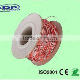 Telephone jumper wire 2cores twisted 0.6mm 22AWG tinned copper/Bare copper