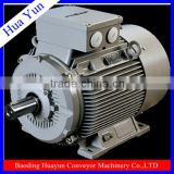 Electric motor with hydraulic pump and high speed hydraulic motor