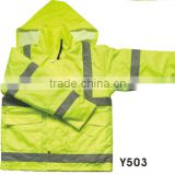 Fluorescent men jackets bicycle apparel road safety bike clothing
