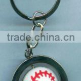 custom baseball key chains rubber key chain rotatable key chain