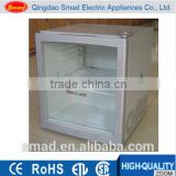 Glass door small drinks showcase, Beer mini fridge, Beverage chiller