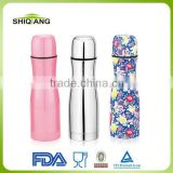 500ml bowling shape double wall stainless steel vacuum thermos flask with different color available