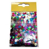 14oz in a polybag colorful metallic/glitter/paper confetti for wedding/party/ holiday celebration