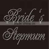 Round Crystal Rhinestone with Bride's Stepmom letter Design iron on Transfer