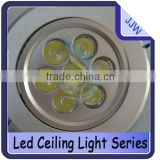 promotion best price super bright led ceiling light, led downlight led recessed lamp 7*1W