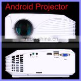 800 x 480 Pixels 1000:1 Contrast Android LED Projector Smart Mini Projector
