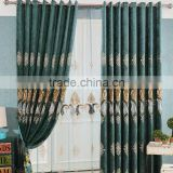 Luxury European custom bedroom curtains thick chenille embroidery curtain shading curtain