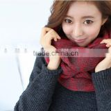 NEW Arrival Two Thread Two Color Weave Fashion Lady Winter Knitted Circle Loop Scarf
