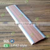42mm Width Aluminum Laminated Stair Nosing For Floor Tile Skirting