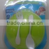 2015 free sample baby products baby suction bowl set with fork and spoon