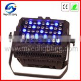 New products 54 3w outdoor LED par light waterproof RGBW LED flood uplights party stage equipment