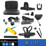 2016 Gopros camera accessories set pack bundle for Go pro heros 4 camera accessories kit