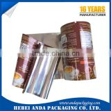 custom Gravure printing Coffee Sachet Packaging Film/plastic milk tea wrapper/ instant coffee plastic packaging