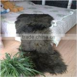 Genuine Fur Long Hair Goat Fur Carpet Rug Throw Bedspread