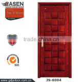 hot sale classic rose natural wood veneer polishing front door design with elaborate 3D effect                                                                         Quality Choice