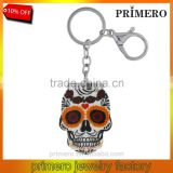 Wholesale new halloween jewelry skull pendant cheap acrylic material keychain