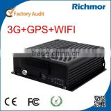 Richmor 4Ch/8CH Mobile car DVR GPS, 3G, and Wi-Fi optional, car black box car video recorder