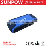 SUNPOW automobile starting power car battery jump starter