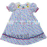 Beautiful birthday cake hand smocked bishop dress