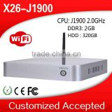 Hot X26-J1900 Celeron Quad Core 4G RAM 32G SSD Mini Pc Ubuntu Fanless i7 Linux PC Support Win 7 XP System