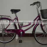 26 inch wheel single speed lady city/princess bike/bicycle wholesale