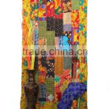 Reversible Kantha Patchwork Curtain Vintage Patchwork Curtain Sari Kantha Curtain