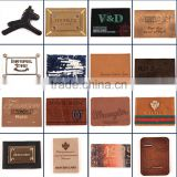 Customized fashion design leather back patch labels