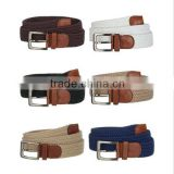 Fashion High Quality Low Price Colorful Fabric Leather Wide Suede Belt