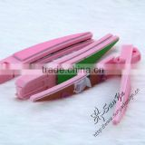 4 way multifunctional banana shape plastic nail file/shiner