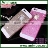 Mobile phone accessories glitter crystal rhinestone bling diamond girls mobile phone case for iphone                                                                         Quality Choice