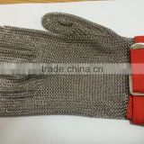 Hot! Metal Finger Glove, stainless steel safety glove for butcher protection,manabo metal mesh