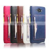 Premium wallet card slot case mobile accessory for Moto droid turbo xt1254