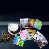 pet pe lamination heat seal triangle sealing food grade plastic instant coffee powder packaging bag with tear notch