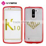 IVYMAX new arrival bulk accesorios para celulares hard transparent back case shock resistant cover case for LG K10