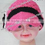 Wholesale baby cotton hat cute crochet hats for kids 2012 new arrivals knitting patterns beautiful baby gift