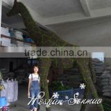 2016 new design artificial topiary frame animal plastic large size giraffe fake animal for garden decoration