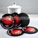 Hot sale printed agate coaster promotional EVA coaster customized logo printed drink coaster