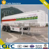 CITC stainless steel 50ton light fuel oil water tanker semi trailer/milk transport tank truck