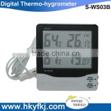 Indoor outdoor digital lcd display high low temperature humidity meter lab thermo hygrometer with sensor