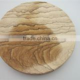Eco-friendly natural round and square sandstone coaster                                                                         Quality Choice