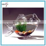 Clear Decorative Glass Fish Bowl Fish Shaped