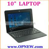 Wholesale 10 INCH Dual Core Laptop Computer Android 4.4 Cheap Mini PC netbook for kids family 3G WIFI HDM RJ45 port