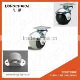 50mm TPR ball swivel chair caster flat furniture casters ball bearing casters