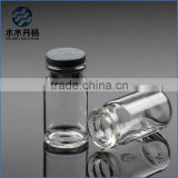 Hot sell 5ml glass injection bottle Clear glass vial glass injection tubes for sale with rubber stopper