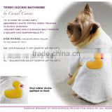 Fashion pet bathrobe for dogs