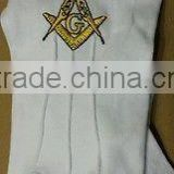 Custom Made Cotton Wholesale Masonic Gloves