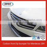 CF CARBON FRONT BUMPER LIP SPOILER WING BODYKIT Fit for 2010-12 MERCEDES W204 C63 SEDAN