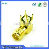pcb application sma female connectors for RF transmitter and receiver soldering terminal receptacles