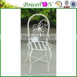 Vintage Antique Novelty Metal Decorative Wrough Iron Chair Shape Garden Flower Planters For Patio TS05 G00 X00 PL08-5849