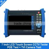 "7"" IP CCTV Tester Monitor HD TVI Camera Test Video Display PTZ Control Cable Scan POE Output IPC 8600"